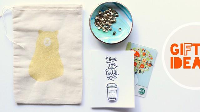 glitter canvas bags | gift idea