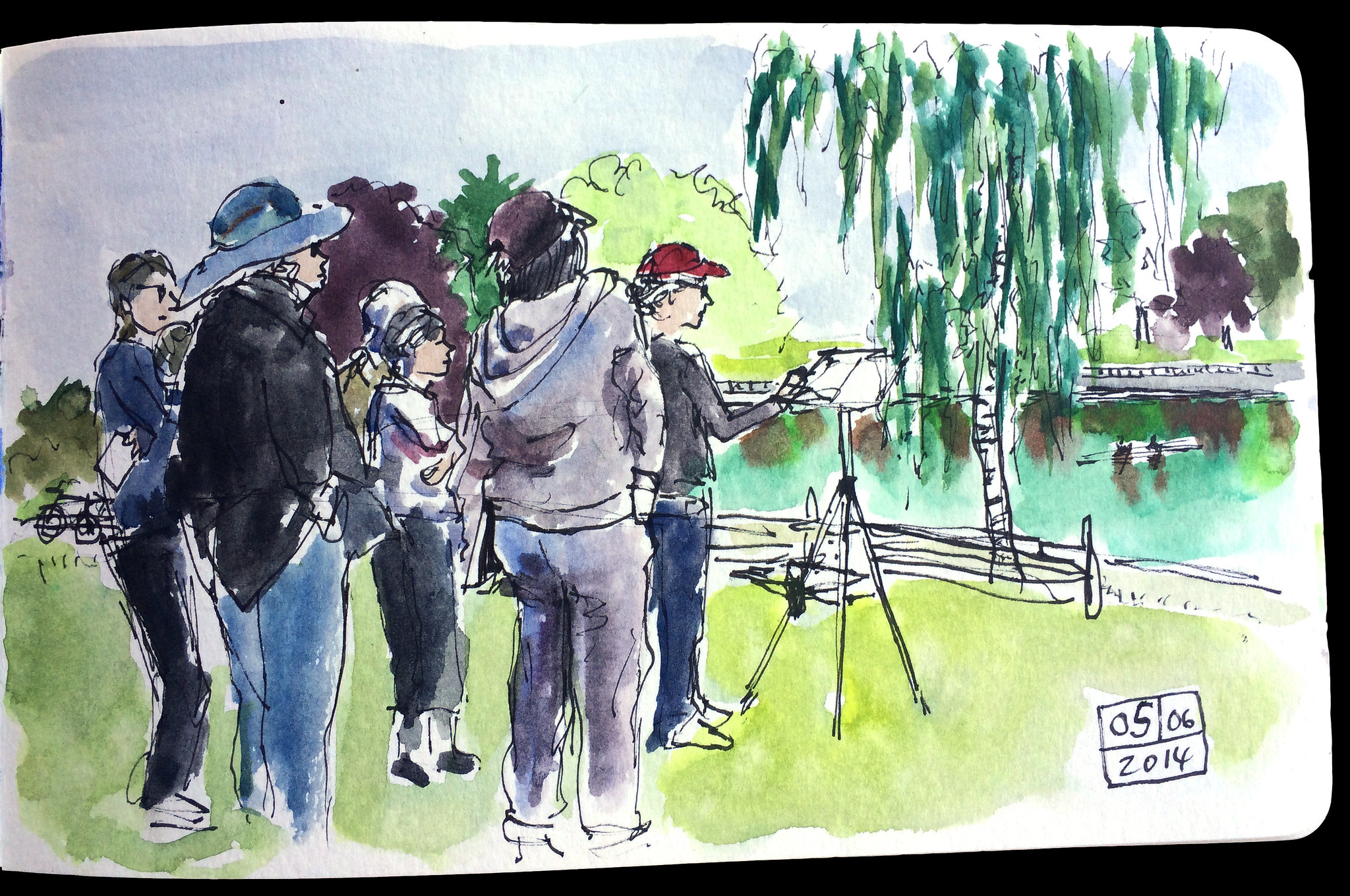 Shari Blaukopf watercolour workshop I