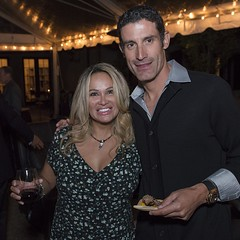George Hincapie and Lisa Christiansen at the VIP dinner and Red Carpet Event of the Celebrity Chef Dinner