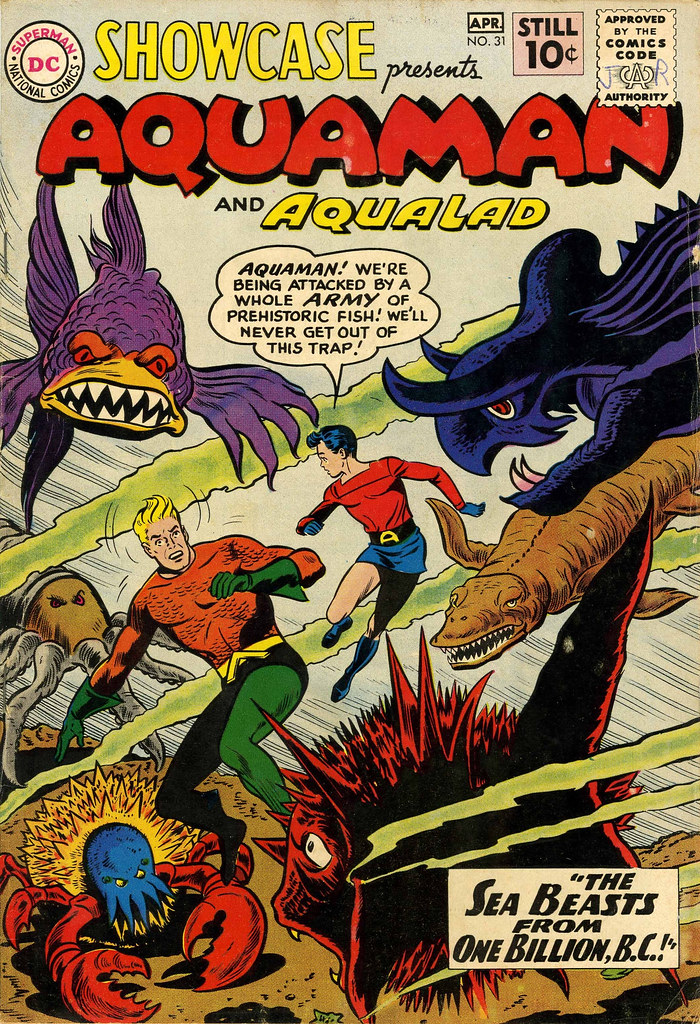 Showcase #31 Aquaman (DC, 1961) Howard Purcell and Sheldon Moldoff Cover