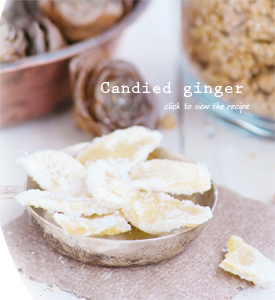 Granola and candied ginger
