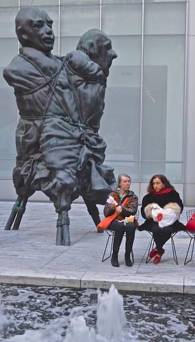 Museum of Modern Art, MOMA, courtyard, New York City,