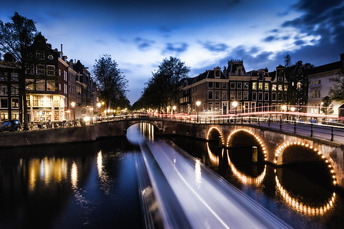 bridge houses sky netherlands colors amsterdam festival clouds reflections lights canal keizersgracht