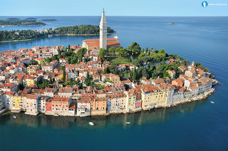 Rovinj aerial view (photo from Wikipedia)