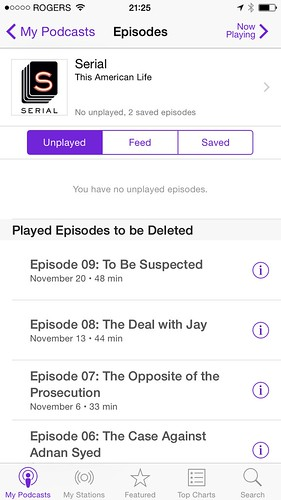 My favorite podcast: Serial