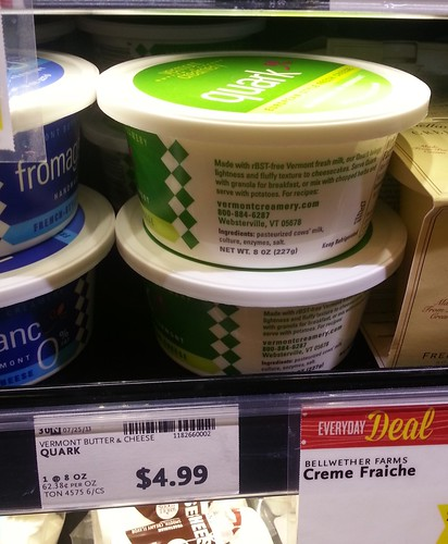 Quark on Wholefoods shelf