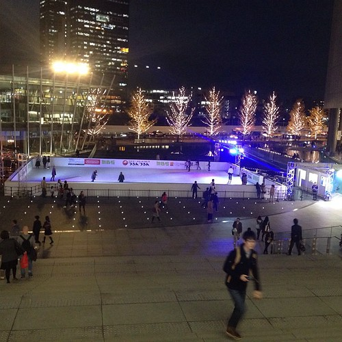 Osaka station has an ice rink.