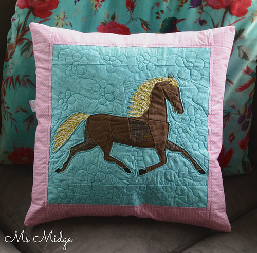 Custom order Folkart Horse Cushion
