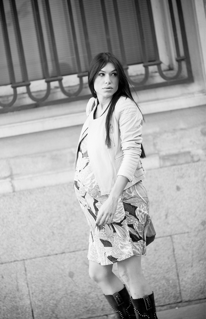 street style barbara crespo hake yellow jacket bag beautyque nail bar dress fashion blogger outfit blog de moda