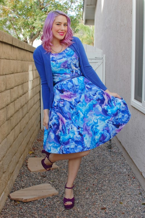Modcloth Retrolicious Hooved on a Feeling dress 007