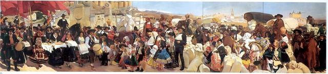 Castilla. La Fiesta del Pan. Pintado por Joaquín Sorolla en 1913 para la Hispanic Society