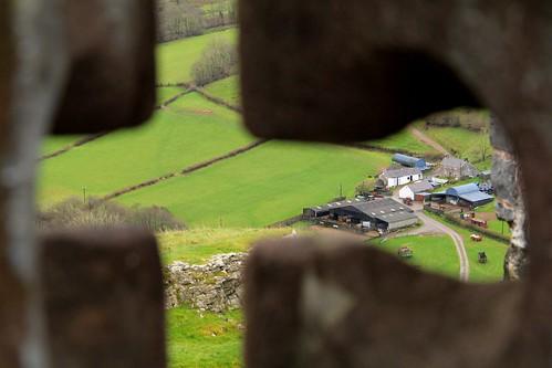 castle wales rural landscape farm f10 150 carregcennen farmyard arrowslit cadw