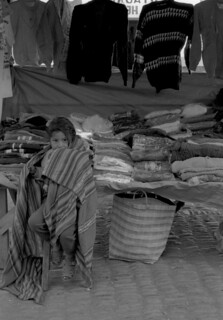 Girl Wrapped in Blanket at Market (Pisac, Peru 1998)