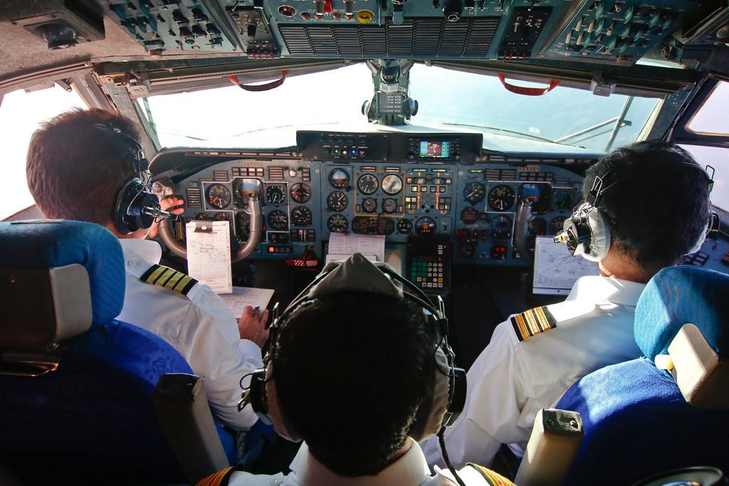 Iran Revolutionary Guard An-74 flight cockpit