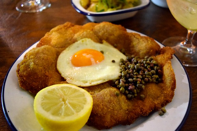 Boopshi's Pork Schnitzel with Duck Egg & Capers