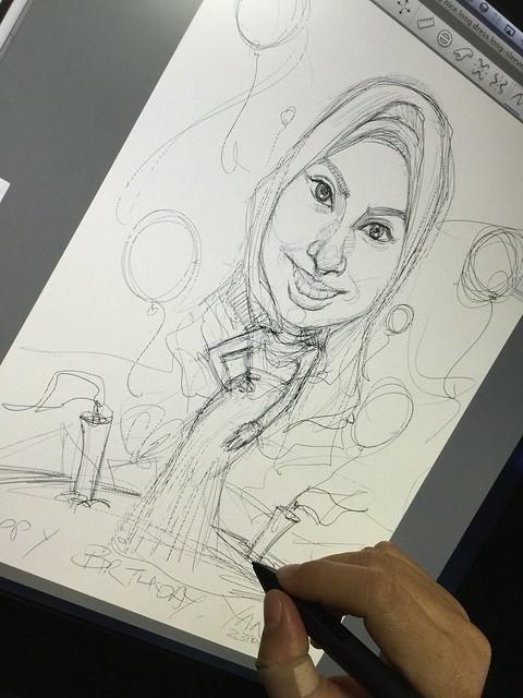 Birthday digital caricature