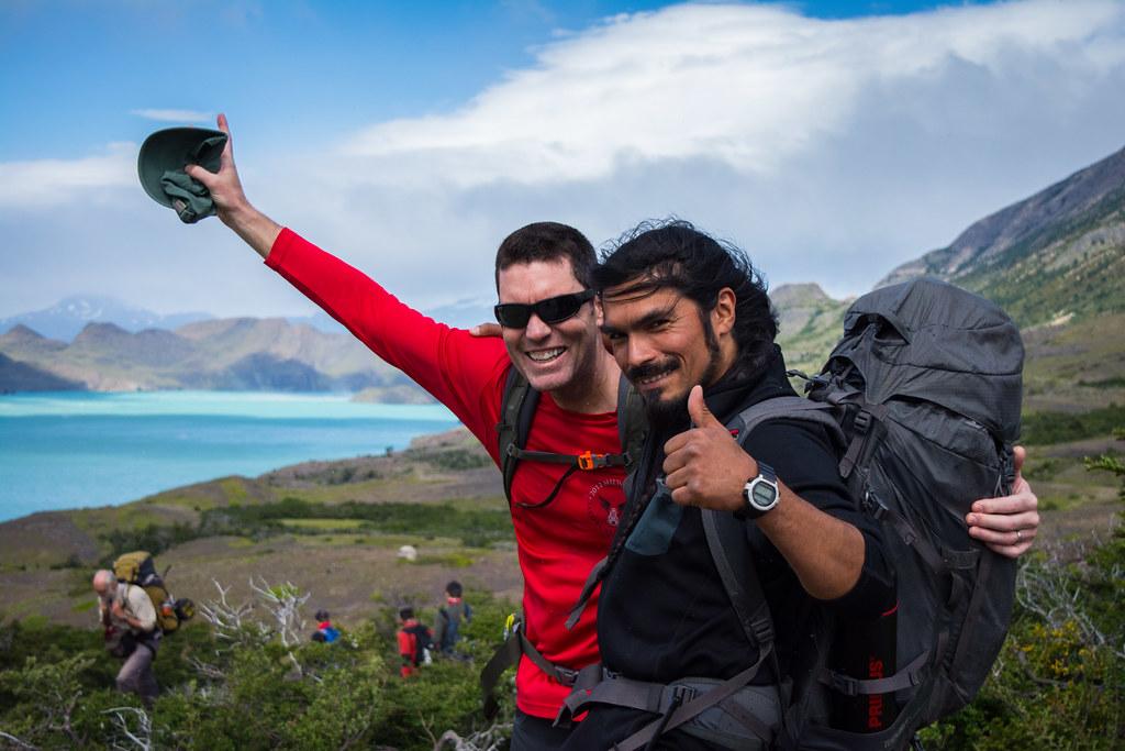 Pablo and Rick starting the trek
