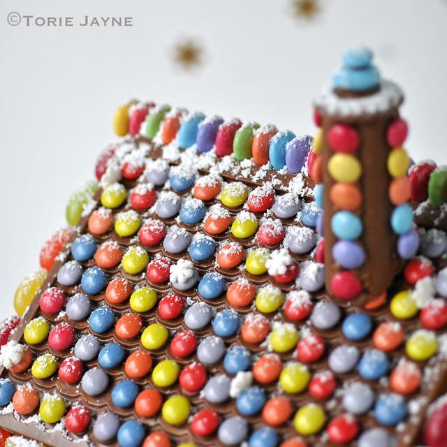 casa de chocolate telhado