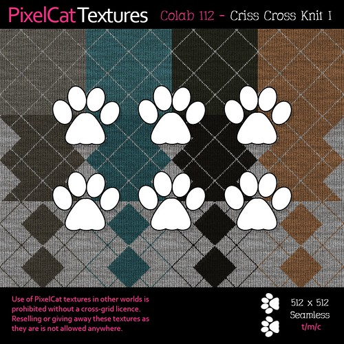 PixelCat Textures - Colab 112 - Criss Cross Knit I