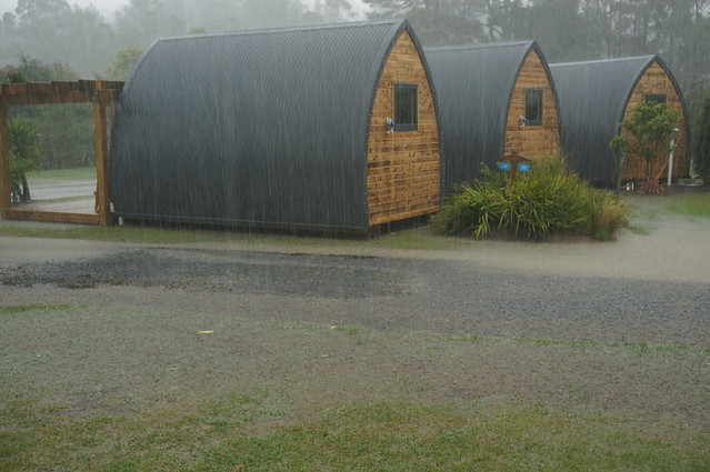 More rain at Hot Water Beach campground