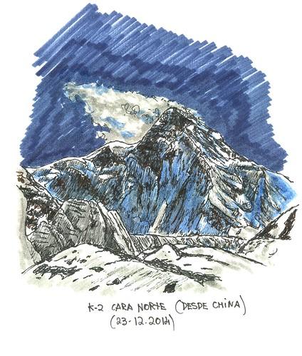 K-2 (8.611 m.s.n.m.), cara norte