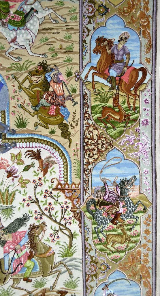 Tabriz 70 Raj - hunting scene Fine 7x10 (4)