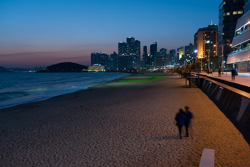beach night southkorea haeundaebeach
