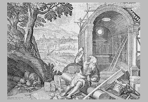 Illustration of Saint Marinus, the founder of the Republic of San Marino