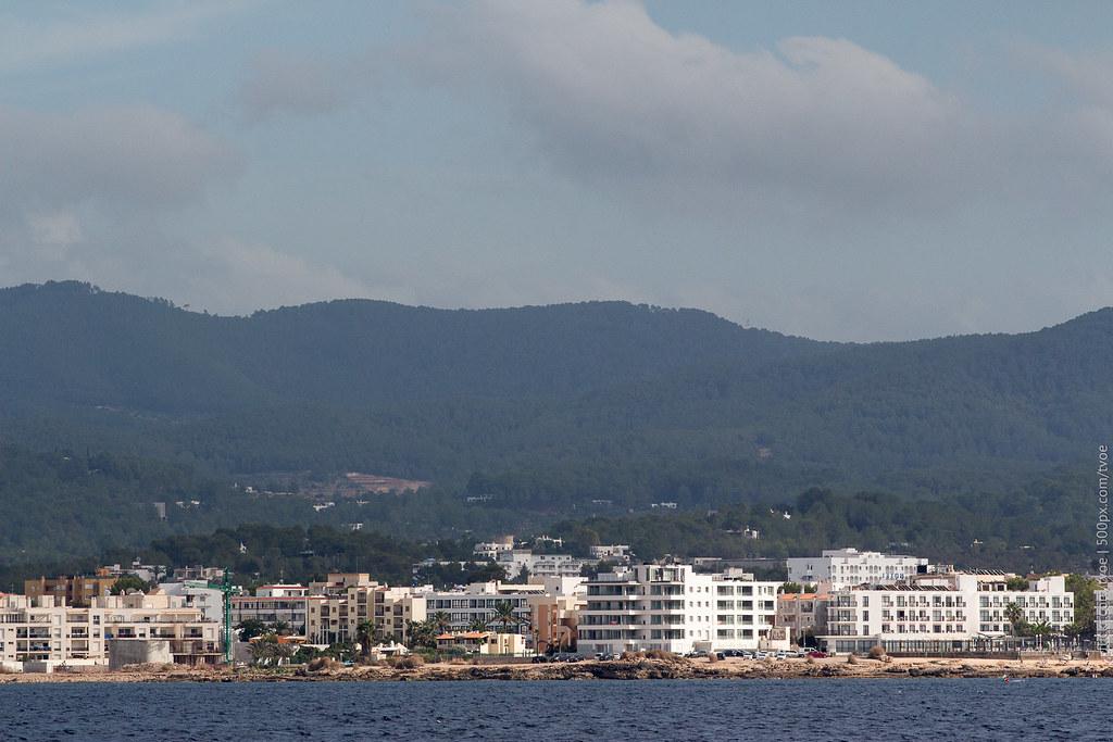 Сан-Антонио на Ибице. Вид с моря