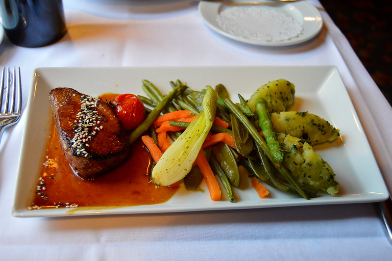Duck Breast with Mashed Potatoes at Walt's An American Restaurant