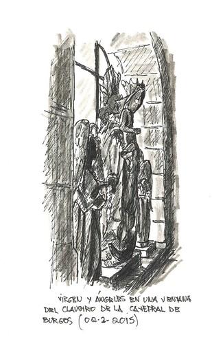 Virgen con Niño descabezado y ángeles