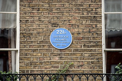 Photo of Sherlock Holmes blue plaque