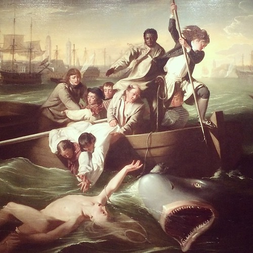 Watson and the Shark, or, Don't Go Swimming in Havana Harbor in the 18th Century (J.S. Copley)