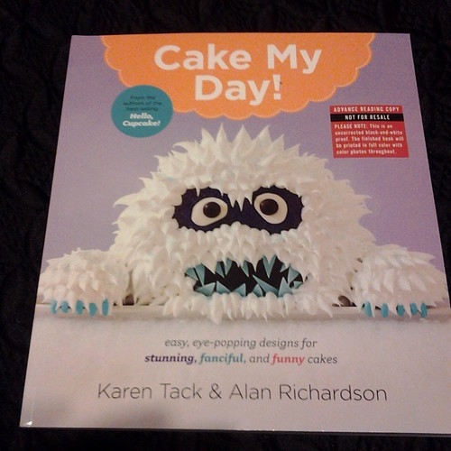 Got an advance copy of the new book by Karen Tack and Alan Richardson, Cake My Day. #cakes #craft