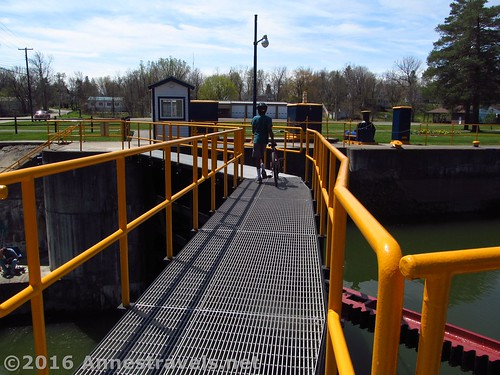 Crossing the lock doors at Lock 30. Macedon Canal Park, New York