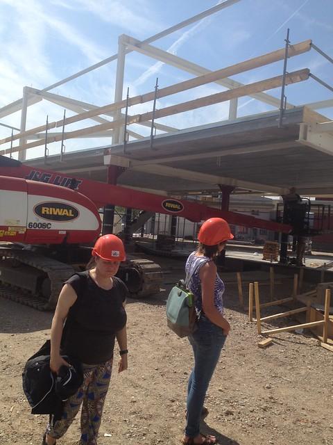 Bezoek bouwplaats mei 2015