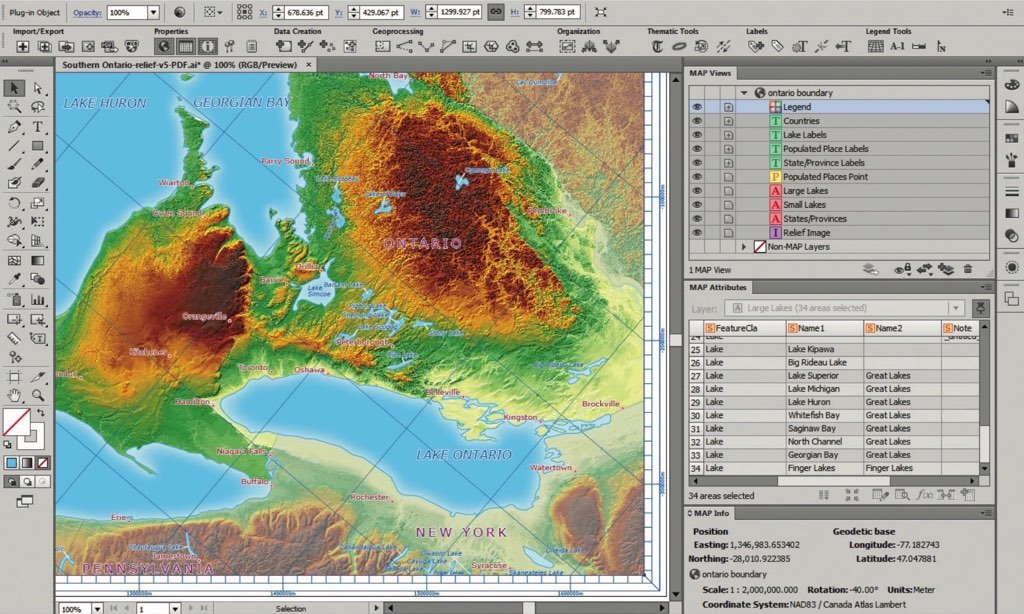 MAPublisher 9 7 0 – Plugins for Illustrator, cartographic