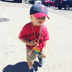 His 2nd Pride parade. This year, he got the full experience of beads, candy and stickers. His favorite parts were anything with music he could dance to, specifically live drumming. Raising Oslo to have pride in his family and in his community is so import