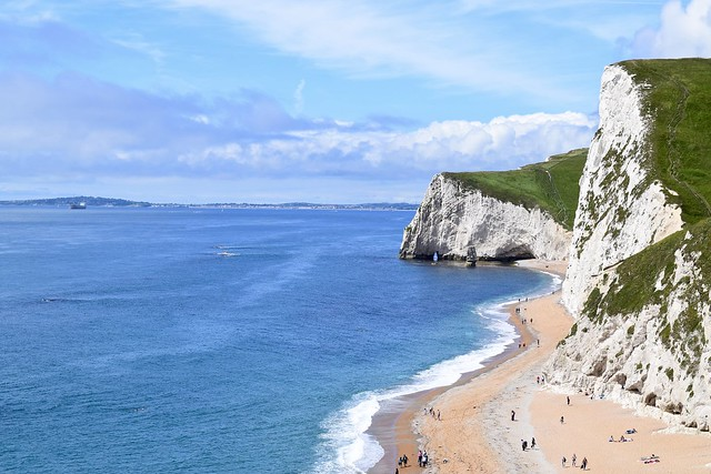 White cliffs on the Jurassic Coast