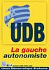 Affiche de l'UDB - La Gauche autonomiste