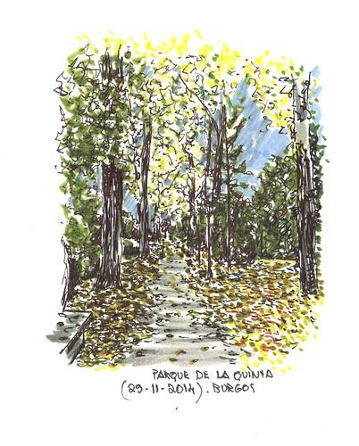 Paseo de la Quinta en Burgos