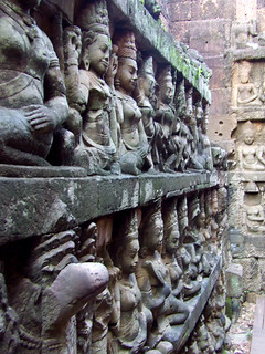 Image of Terrace of the Elephants near Siem Reap. cambodia temples