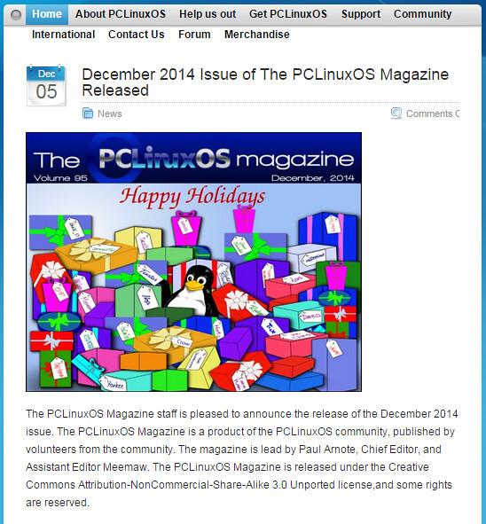 Сайт PCLinuxOS