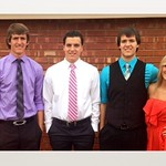 Michael, Scott, Jamie and Shelby Dobrinski are OSU freshmen from Okeene, Okla.