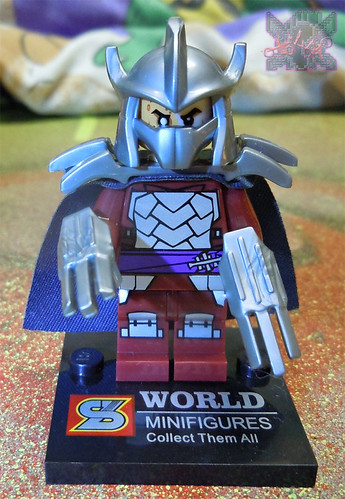 "Sheng Yuan TEENAGE MUTANT NINJA TURTLES :: ""SHREDDER"" Bootleg Minifigure Set iv  (( 2014 ))"