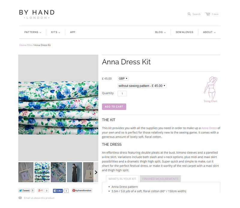 By Hand London product page