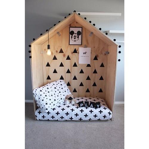 Decorar con casitas de madera
