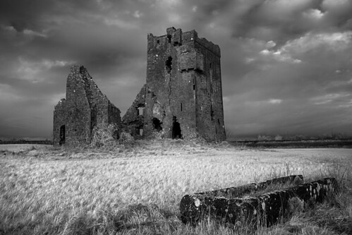 ireland castle monochrome infrared