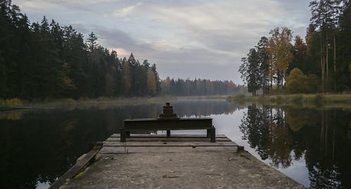 autumn nature river latern ogre rudens oktobris