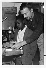 Duane Stutzman with Boys' Club Member, St. Louis Voluntary Service, 1967
